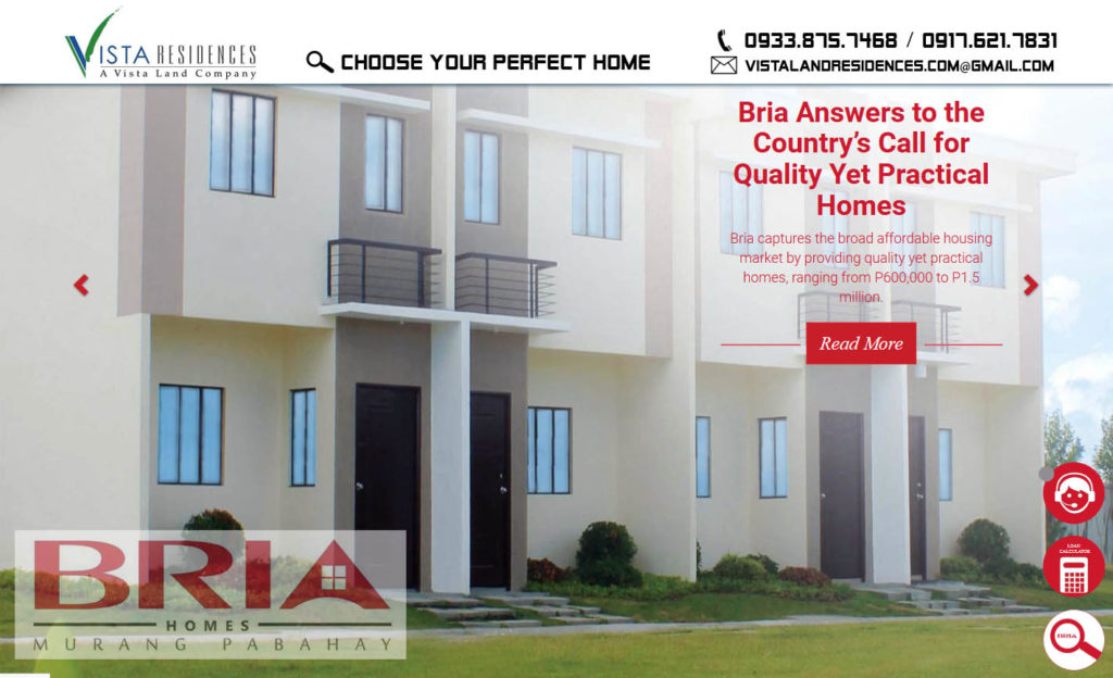Vista Land Residences - Bria Homes banner