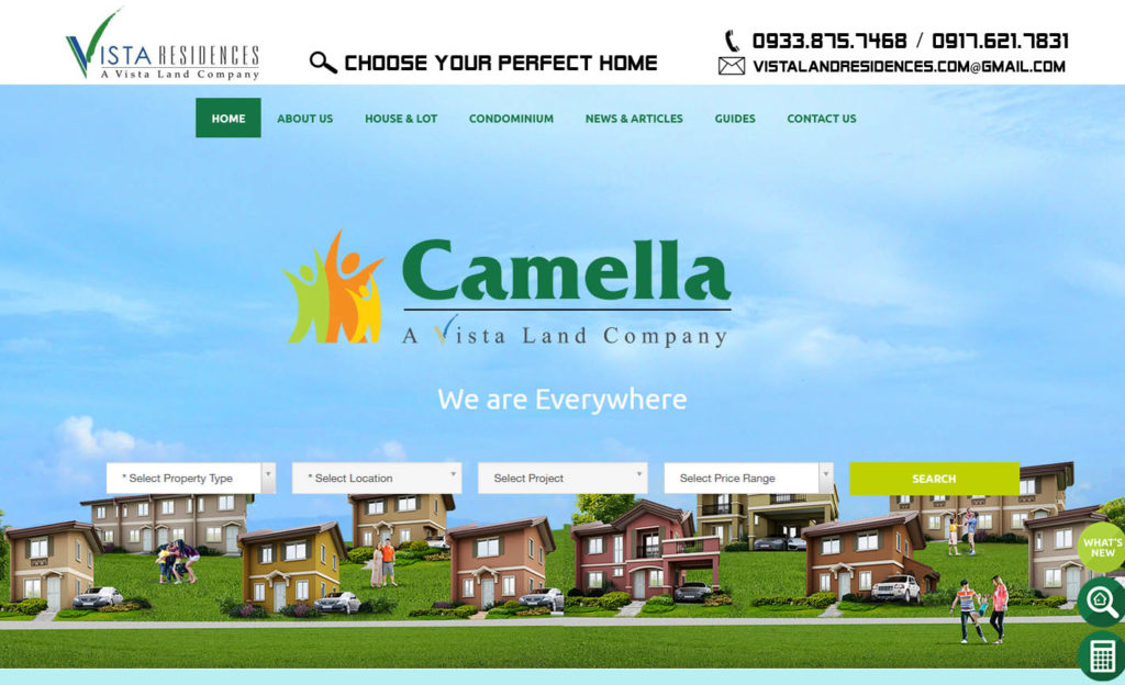Vista Land Residences - Camella Homes banner