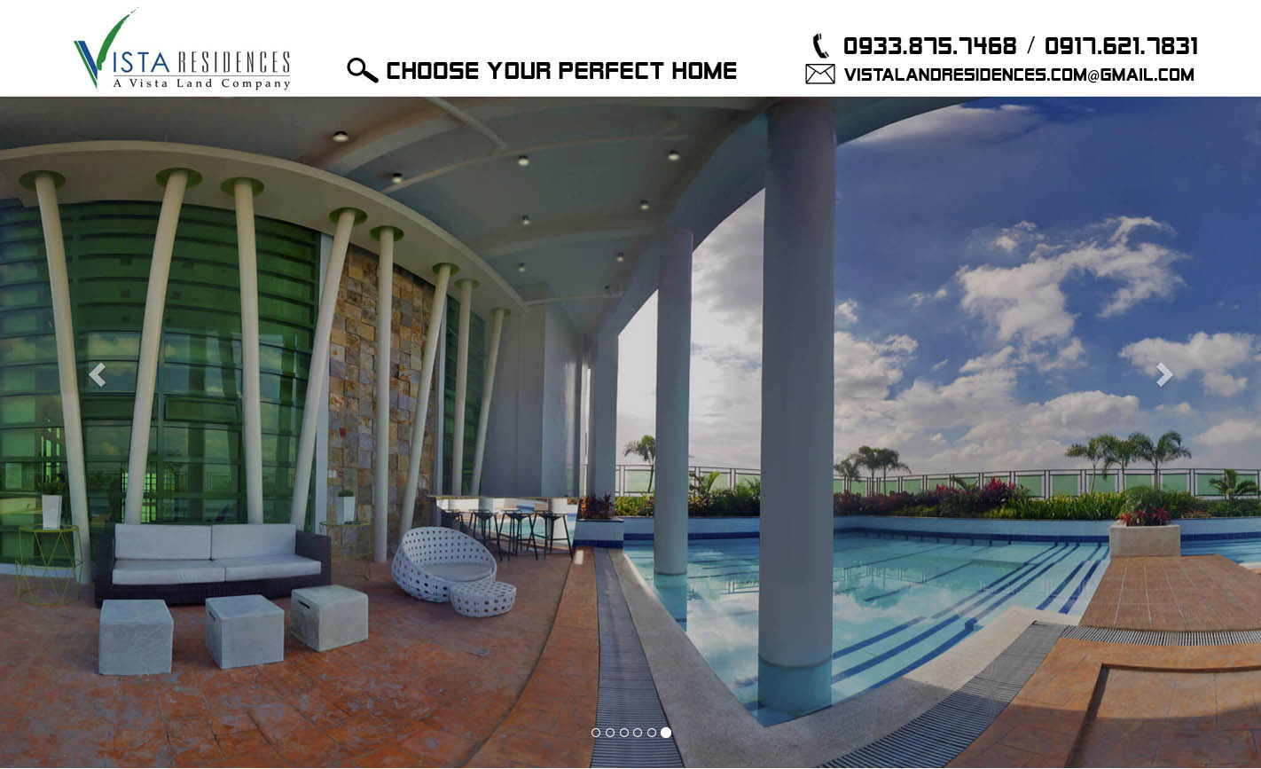 Vista Land Residences feature projects page banner