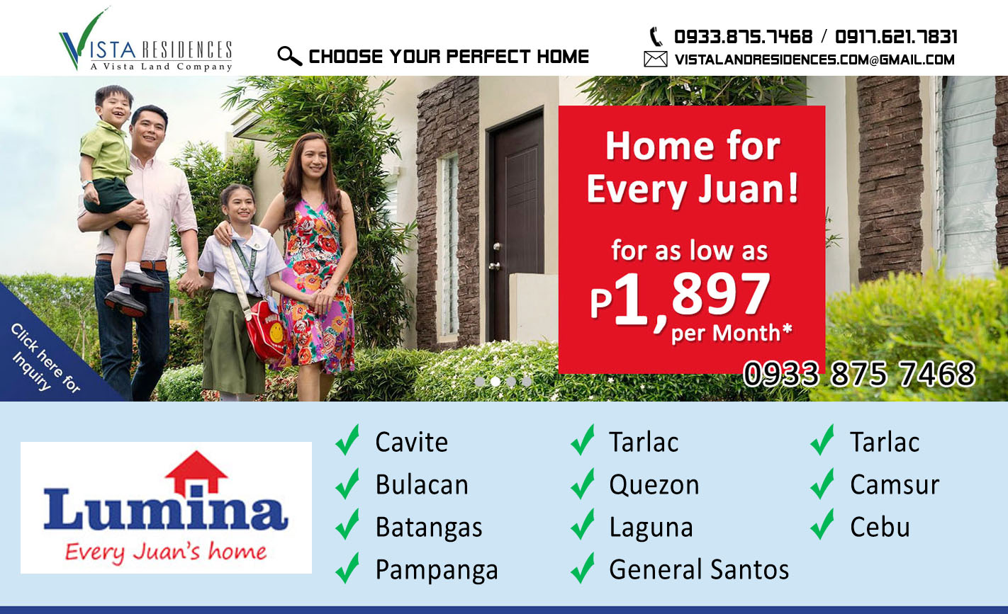 Vista Land Residences - Lumina Homes banner