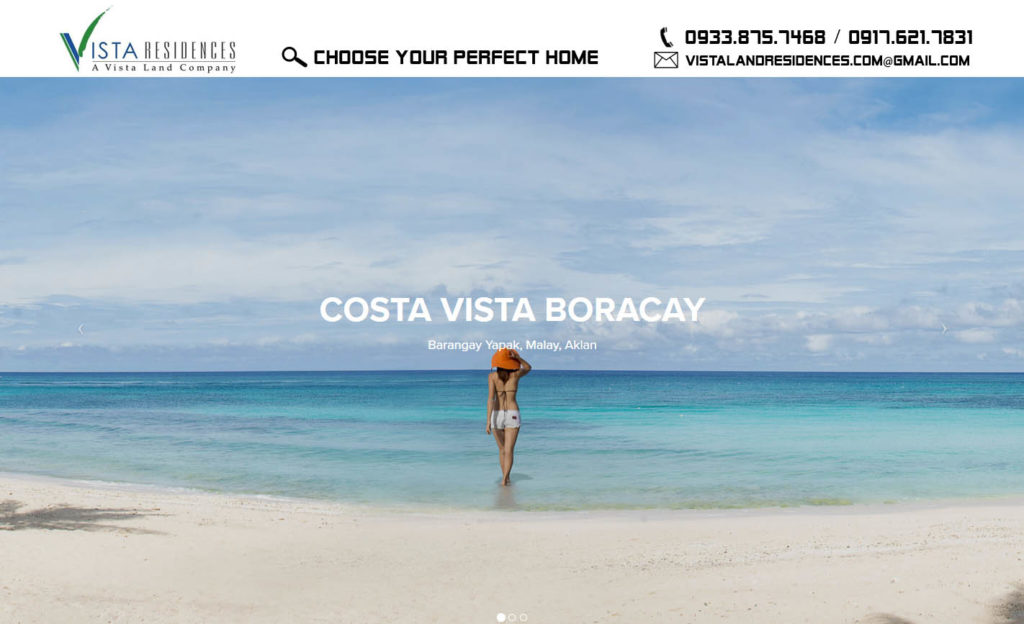 Vista Land Residences Costa Vista Boracay banner