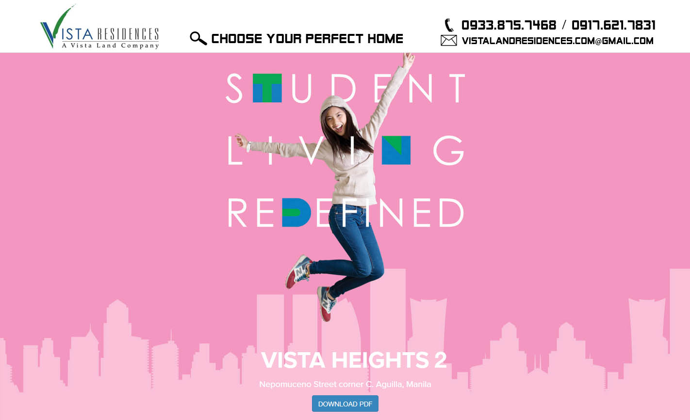Vista Land Residences Vista Heights 2 Manila banner