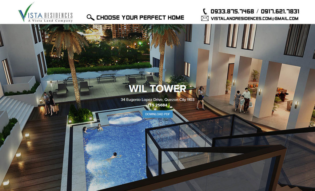 Vista Land Residences Vista Wil Tower Quezon City banner