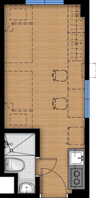 Vista Heights 2 Manila floorplan - Studio1