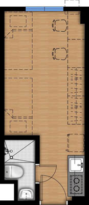 Vista Heights 2 Manila floorplan - Studio2