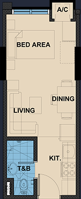 Vista Wil Tower Quezon City floorplan - Studio