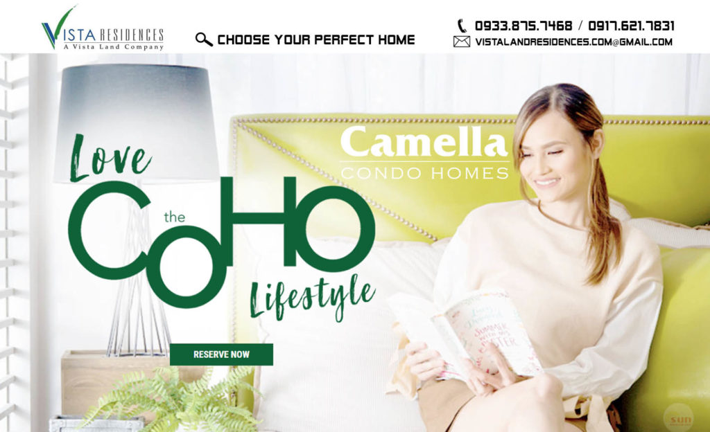 Vista Land Residences Camella Condo Homes banner