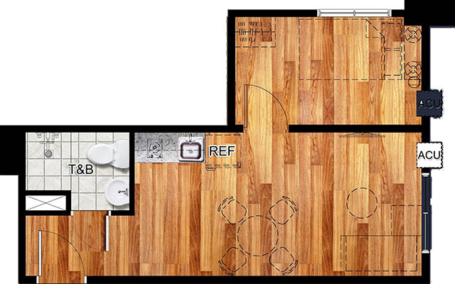 Vista Katipunan 3 floorplan - 1 Bedroom