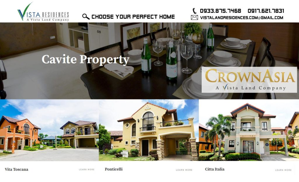 Crown Asia Cavite Projects