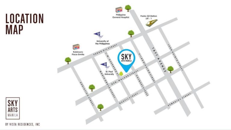 SKY ARTS MANILA LOCATION MAP IN MALATE