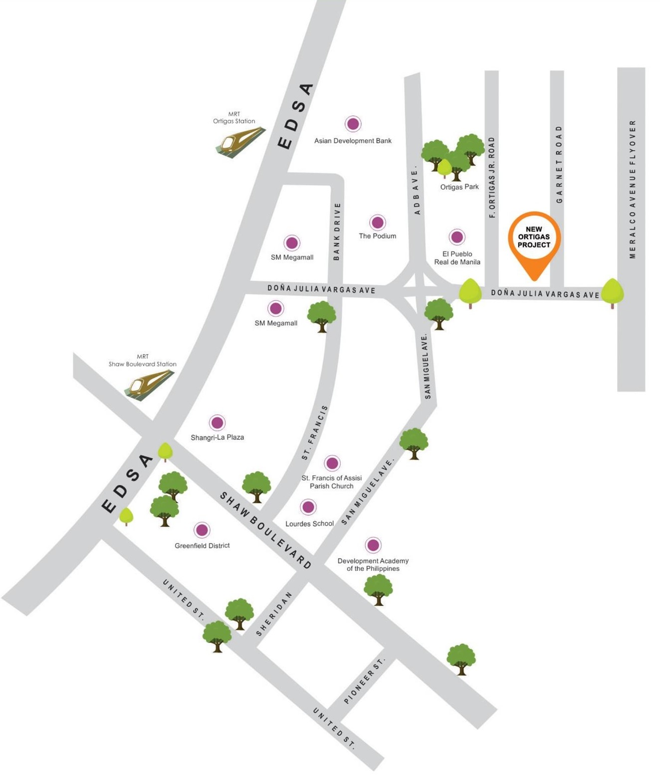 Vista Land Residences The Spectrum Ortigas Mandaluyong Condo location map