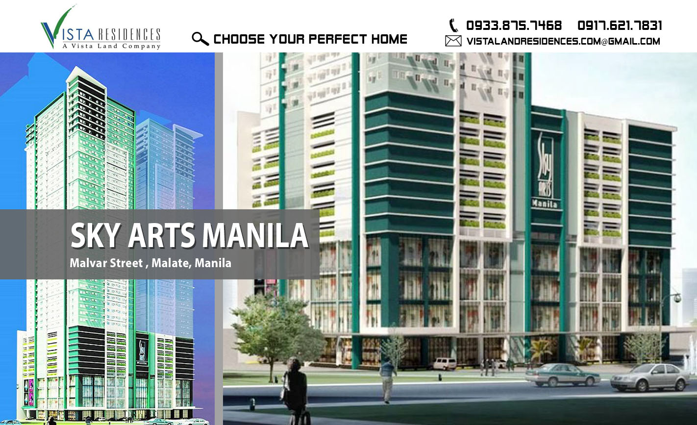 Vista Land Residences Sky Arts Manila banner