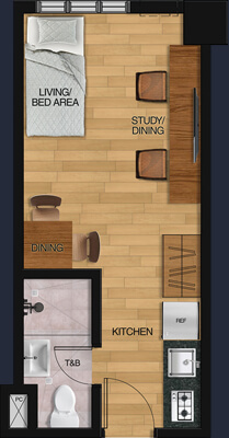 Vista GL Taft floorplan - 1 Bunk Bed