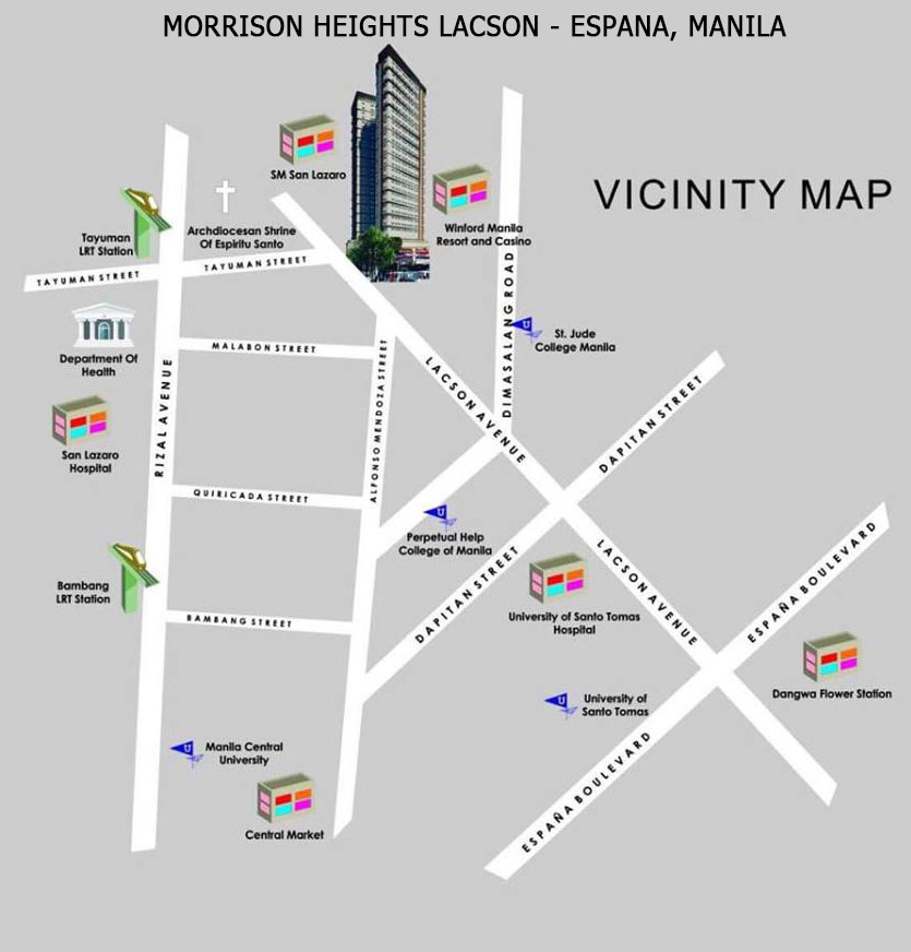 Morrision Heights Espana - Manila Condo location map