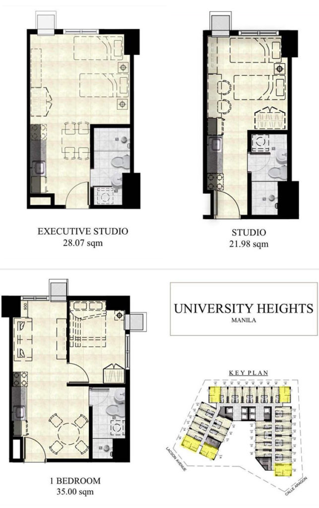 Morrision Heights Espana - Manila Condo Floor plan